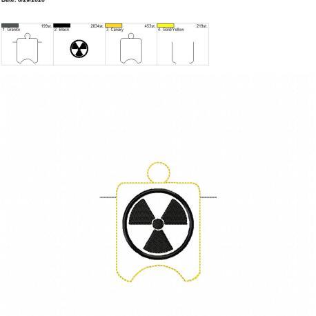 Radiation sanitizer holder eyelet 4×4