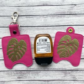 ITH Monstera Leaf Sanitizer Holders 4×4 and 5×7 included- DIGITAL Embroidery DESIGN
