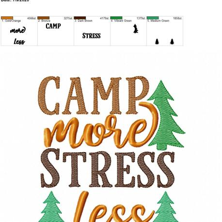 Camp more stress less 6×10