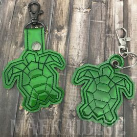 ITH Geo Turtle 4×4 and 5×7 included- DIGITAL Embroidery DESIGN