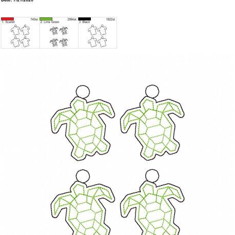 Geo turtle eyelet 5×7 grouped