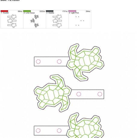 Geo turtle snaptab 5×7 grouped