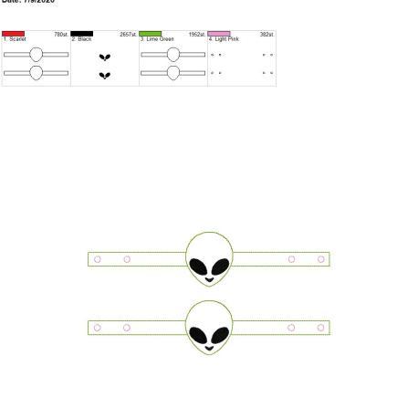 Mask Extender Alien 6×10 grouped