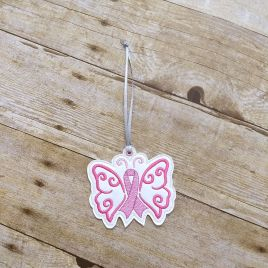 ITH – Awareness Butterfly Ornament 4×4 and 5×7 grouped – Digital Embroidery Design