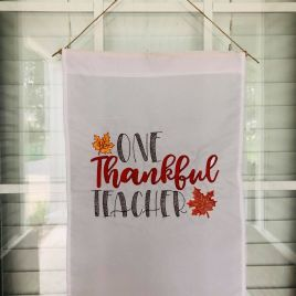 One Thankful Teacher – 2 Sizes – Digital Embroidery Design