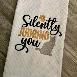 Silently Judging You – 2 Sizes – Digital Embroidery Design