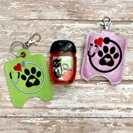 ITH Vet Tech Sanitizer Holders 4×4 and 5×7 included- DIGITAL Embroidery DESIGN