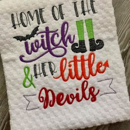 Home of the Witch – 2 Sizes – Digital Embroidery Design