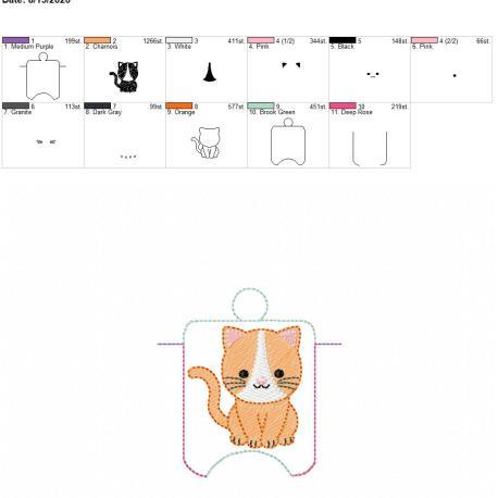 Cat sanitizer holder eyelet 4×4