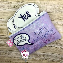 ITH – Virtual Learning Feltie Set with zipper bag – Digital Embroidery Design