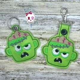 ITH Zombie Fobs 4×4 and 5×7 included- DIGITAL Embroidery DESIGN