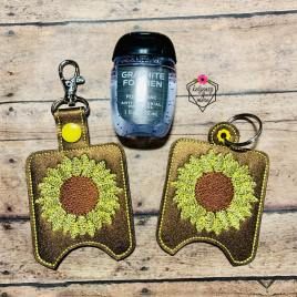 ITH Sunflower Sketch Sanitizer Holders 4×4 and 5×7 included- DIGITAL Embroidery DESIGN