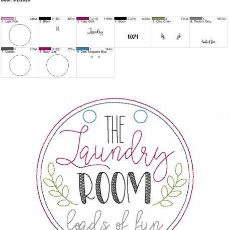 Laundry room loads of fun sign 6×10