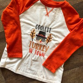 Coolest Turkey In Town – 2 Sizes – Digital Embroidery Design