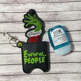 ITH Ewww People Sanitizer Holder 5×7 – DIGITAL Embroidery DESIGN