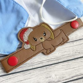 ITH Mask Extender Santa Pup – 2 sizes – DIGITAL Embroidery DESIGN