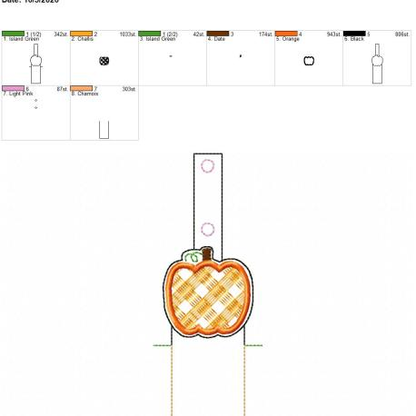 Plaid Pumpkin chapstick holder snaptab 5×7