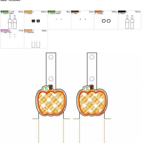Plaid Pumpkin chapstick holder snaptab 5×7 grouped