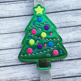 Christmas Tree – Book Band – Embroidery Design, Digital File