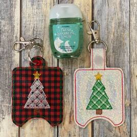 Plaid Tree Sanitizer Holders – DIGITAL Embroidery DESIGN