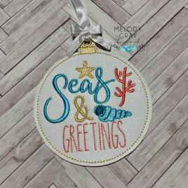 Sea & Greetings Ornament – Digital Embroidery Design