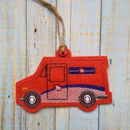 Canada Postal Truck Ornament – Digital Embroidery Design