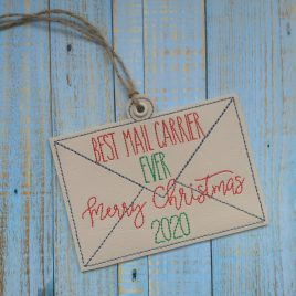 Best Mail Carrier 2020 Ornament – Digital Embroidery Design