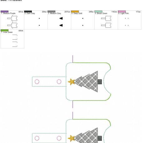 Plaid Tree Sanitizer holder snap tab 5×7 grouped