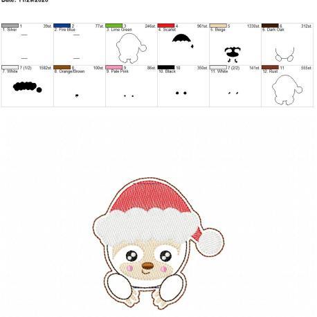 Santa Sloth Book Band 4×4