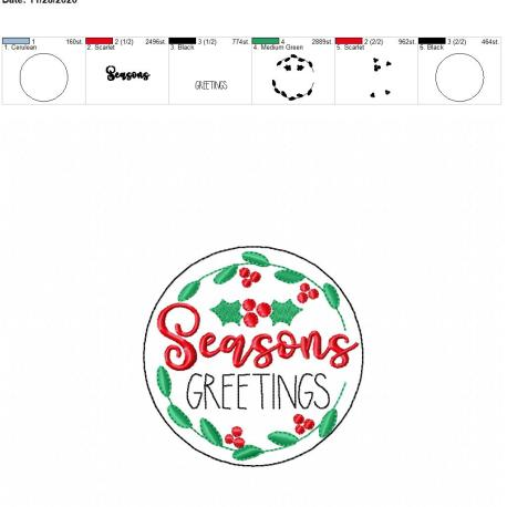 Seasons Greetings coaster 4×4