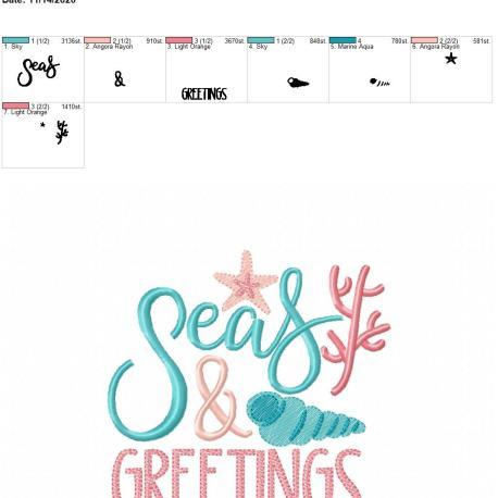 seas & greetings 5×7