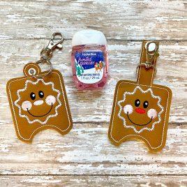 Gingerbread Sanitizer Holders – DIGITAL Embroidery DESIGN