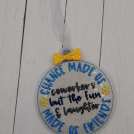 Coworker Ornament – Digital Embroidery Design
