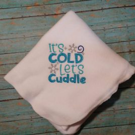 It's Cold Let's Cuddle – 3 sizes- Digital Embroidery Design
