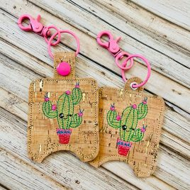 Cute Cactus Sanitizer Holders – DIGITAL Embroidery DESIGN