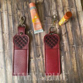 Plaid Heart Lip Balm Holders 5×7 – DIGITAL Embroidery DESIGN