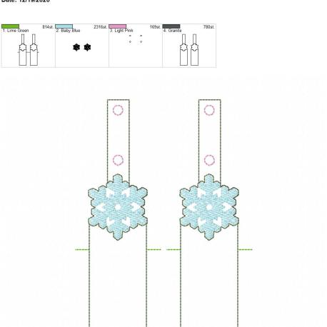 Snowflake Sketch chapstick holder snaptab 5×7 grouped