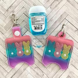 Bunny Trio Sanitizer Holders – DIGITAL Embroidery DESIGN