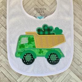 Shamrock Dump Truck Applique – 3 sizes- Digital Embroidery Design