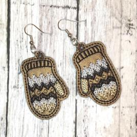 Mitten Earrings – 1 Size – Digital Embroidery Design