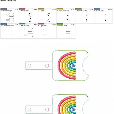 Boho Rainbow Heart Sanitizer holder snap tab 5×7 grouped