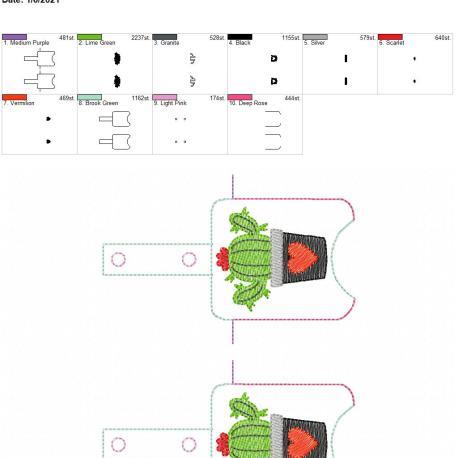 Heart cactus Sanitizer holder snap tab 5×7 grouped