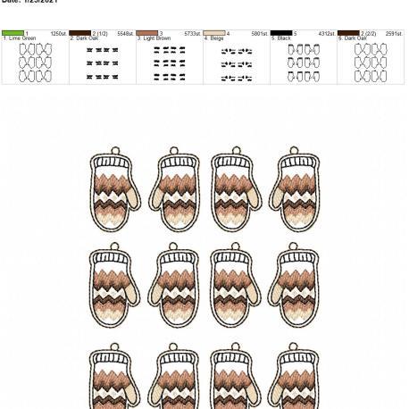 Mitten Earrings 5×7 grouped