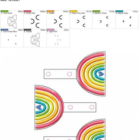 boho rainbow heart snaptab 5×7 grouped