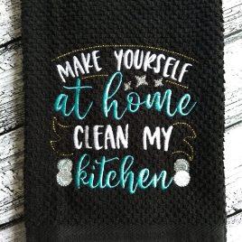 Clean My Kitchen – 3 sizes- Digital Embroidery Design