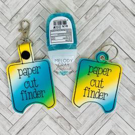Paper Cut Finder Sanitizer Holders – DIGITAL Embroidery DESIGN