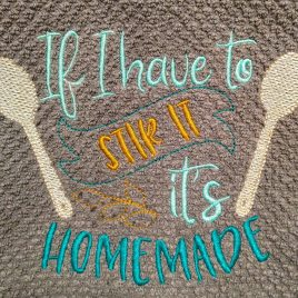 Homemade – 3 sizes- Digital Embroidery Design