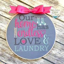 Love and Laundry – 3 sizes- Digital Embroidery Design