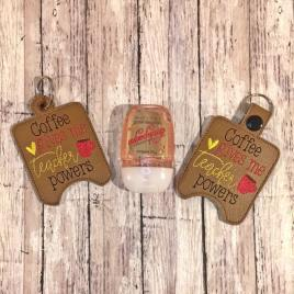Coffee Super Powers Sanitizer Holders – DIGITAL Embroidery DESIGN