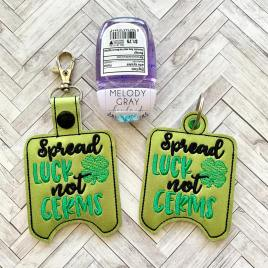Spread Luck Not Germs Sanitizer Holders – DIGITAL Embroidery DESIGN